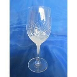 Skleničky na bílé víno, Pískované, 250ml, 6 ks