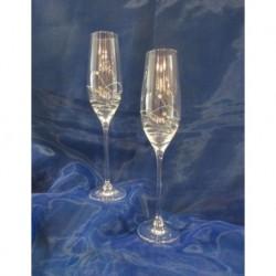 Skleničky na šampaňské - flétna Kamensky 6ks dekor 1063 190ml