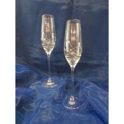 Skleničky na šampaňské - flétna Kamensky 2ks dekor 1063 190ml