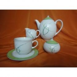Kávový servis 6-ti osobní 150 ml + 6 dezerních talířů Opal, 80216/ Tráva