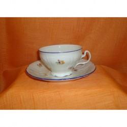 Šálek s podšálkem na čaj Bernadotte (6ks), Házenka / Slonová kost, 155 ml