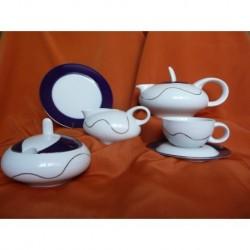 Čajová souprava bez dezertních talířů - 160 ml Tereza 6 osob,