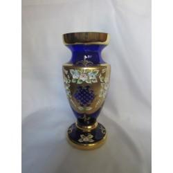 Váza panenka střední, Smalt, 25 cm,/Modrá