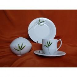 Šálek s podšálkem na kávu Scarabeus (6ks) + desertní talíř + cukřenka, SC001, 160 ml