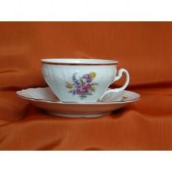 Šálek s podšálkem na čaj Bernadotte (6ks), 5309011/ Kosatec, 155 ml