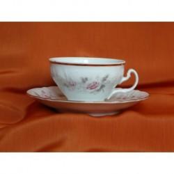 Šálek s podšálkem na čaj Bernadotte (6ks), 5396011/ Růžička, 155 ml