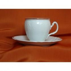 Šálek s podšálkem na kávu Bernadotte (6ks), 50012/ Zlatá linka, 160 ml