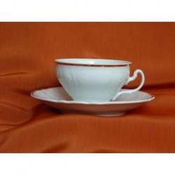 Šálek s podšálkem na čaj Bernadotte (6ks), 50012/ Zlatá linka, 155 ml