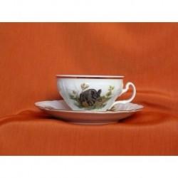 Šálek s podšálkem na čaj Bernadotte (2ks), Lovy, 155 ml