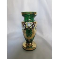 Váza panenka malá, Smalt, 18 cm,/Zel.