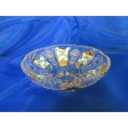 Miska, Křišťálové sklo zdobené zlatem, 15 cm