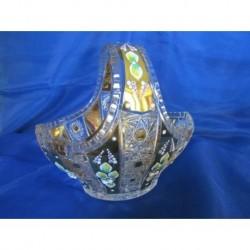 Košík, Křišťálové sklo zdobené zlatem, 24cm