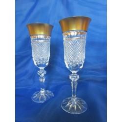 Skleničky na šampaňské - flétna, Špitštein, 6 ks