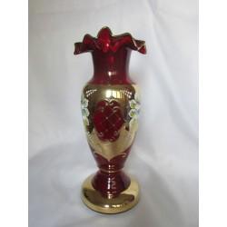 Váza lipna, Smalt, 26 cm/ červená